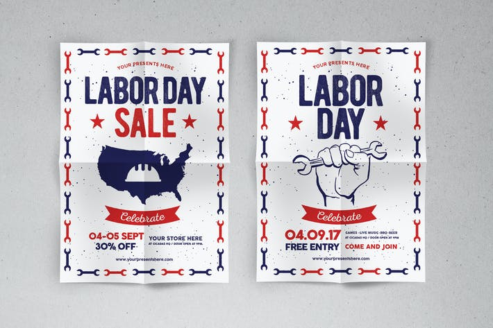 Thumbnail for Labor Day Flyer & labor Day Sale Flyer