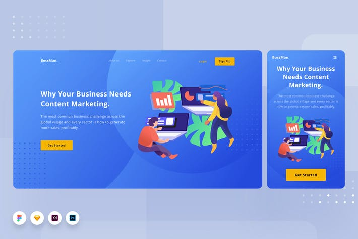 Thumbnail for Business Landingpage 01