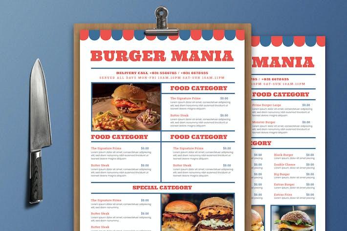 Thumbnail for Burger Food Menu