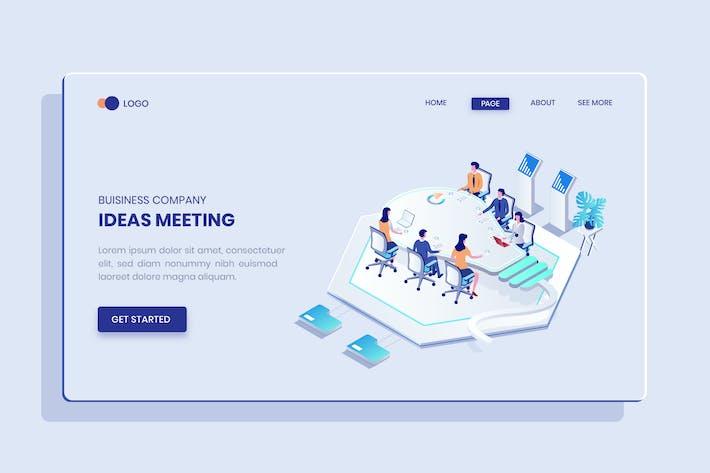 Business Idea Isometric Vector Concept