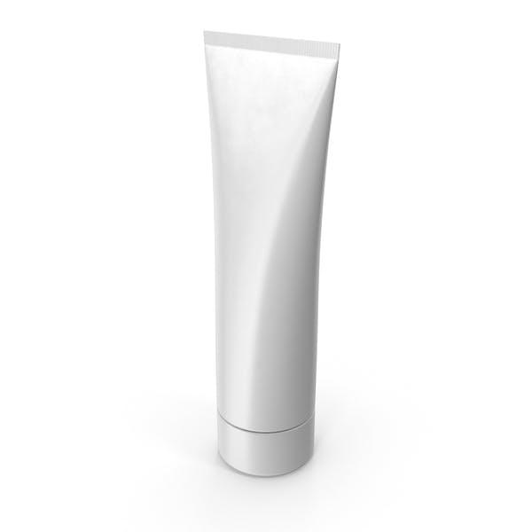 Tubo de crema en blanco