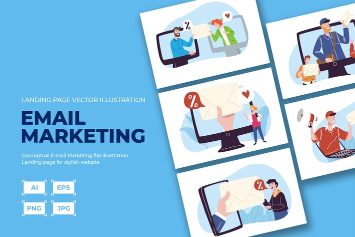 Thumbnail for Email/ Online Discount marketing illustration