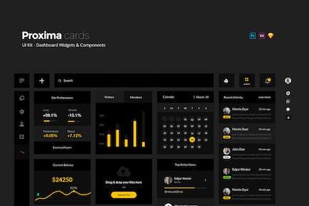 Proxima UI Kit - Dashboard Widgets + Components