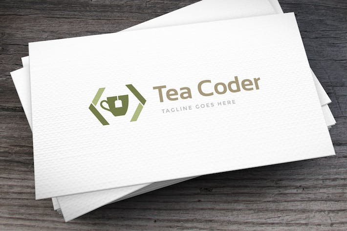 Thumbnail for Tea Coder Logo Template