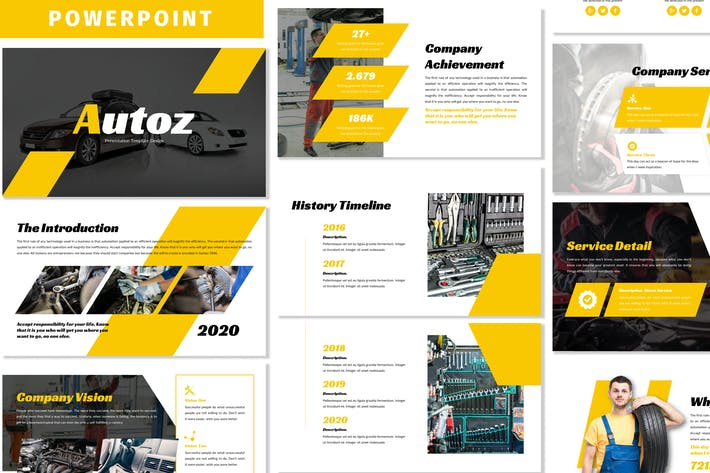 Thumbnail for Autoz - Business Powerpoint Template