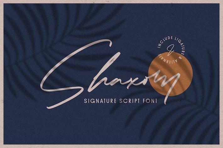 Thumbnail for Shaxom - Police de script de signature