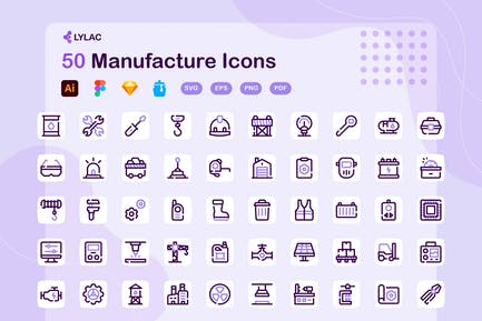 Lylac - Manufacture Icons