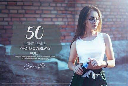 50 Light Leaks Photo Overlays - Vol. 1