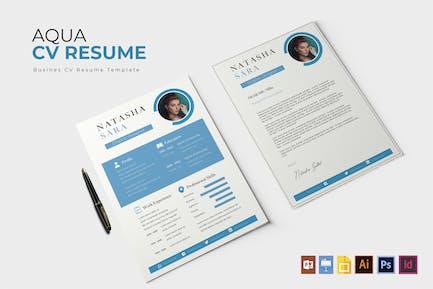 Aqua | Modèle de CV et CV