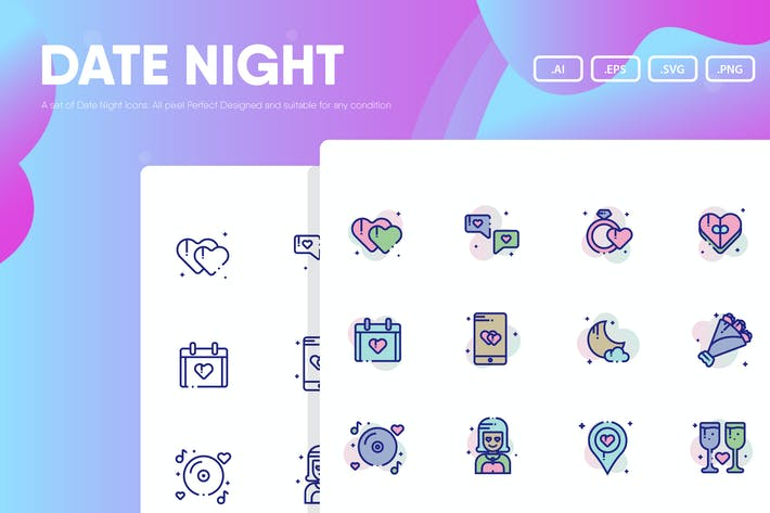 Thumbnail for Date Night Icon Pack