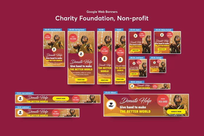 Cover Image For Charity Foundation, Non-profit Banners Ad