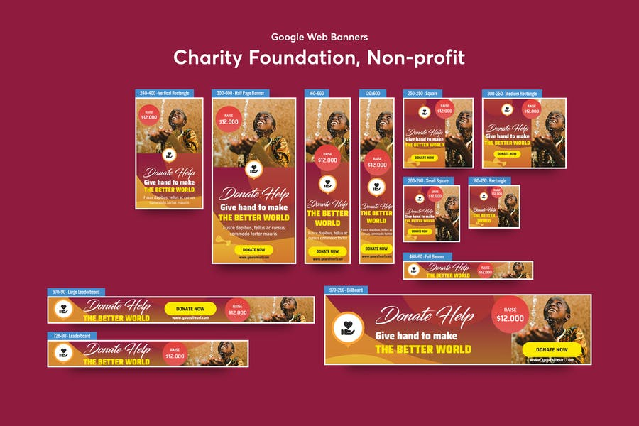 Charity Foundation, Non-profit Banners Ad