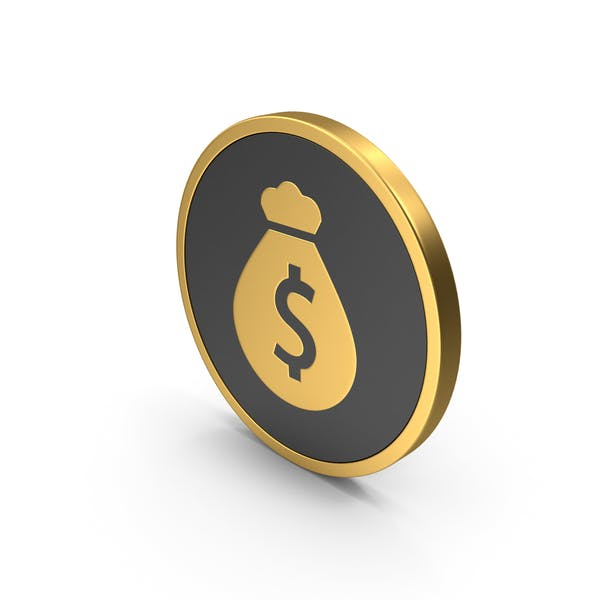 Money Bag Icon Gold