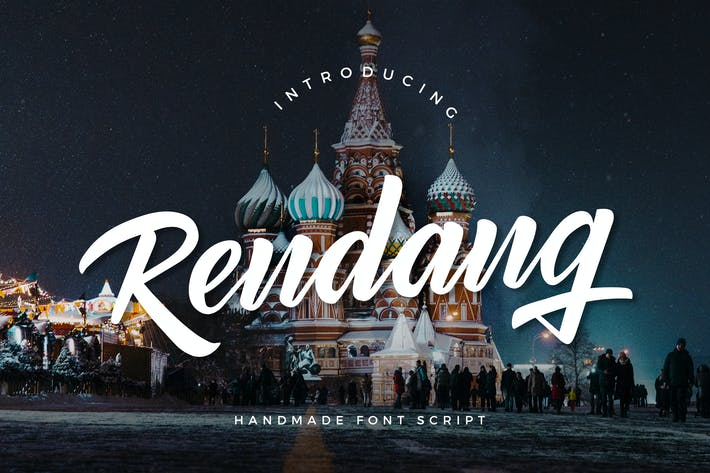 Cover Image For Rendang - Handmade Font