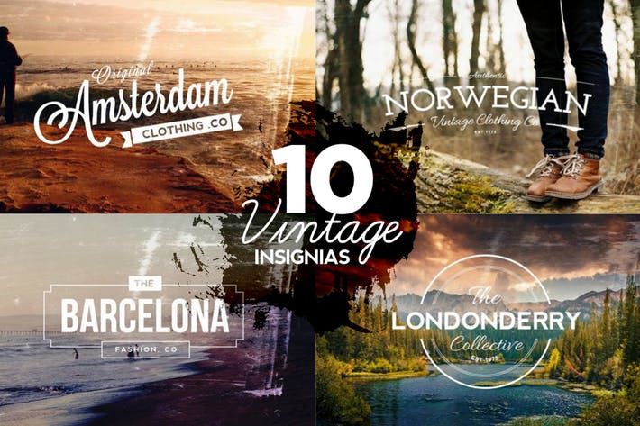 Thumbnail for 10 Vintage Insignias