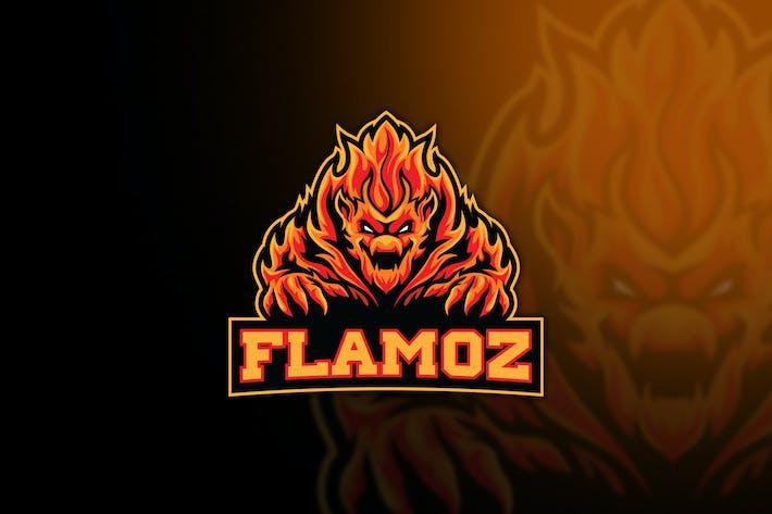 Flame Monster Esport Logo Template