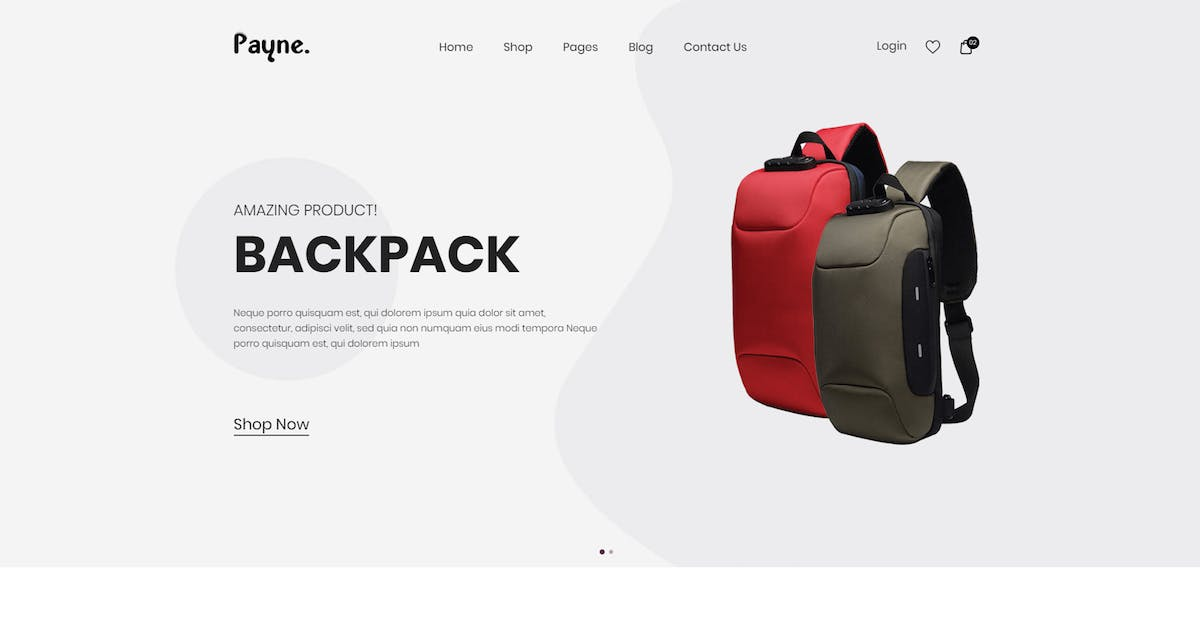 Download Payne - Backpack eCommerce HTML Template by codecarnival