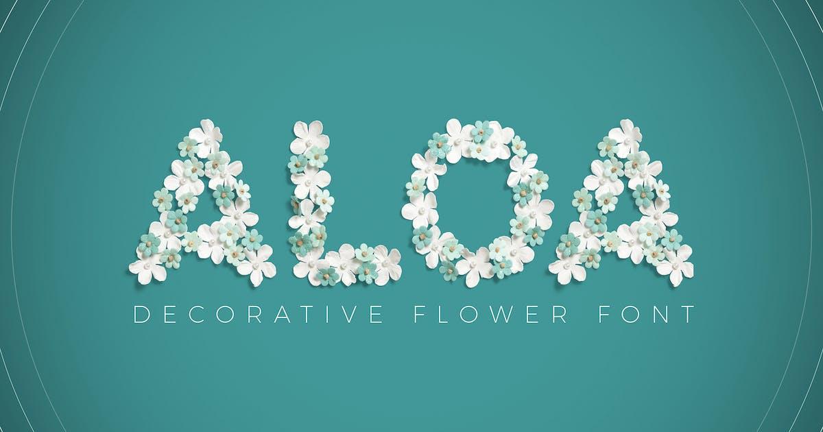 Download Aloa - Flower Font by vasaki