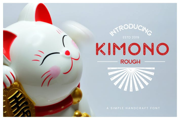 Thumbnail for Kimono - Japanese Display Typeface
