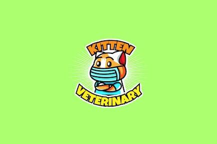 kitten veterinary - Mascot & Esport Logo