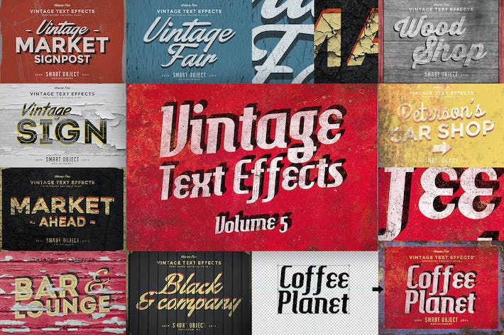 Thumbnail for Vintage Text Effects Vol.5