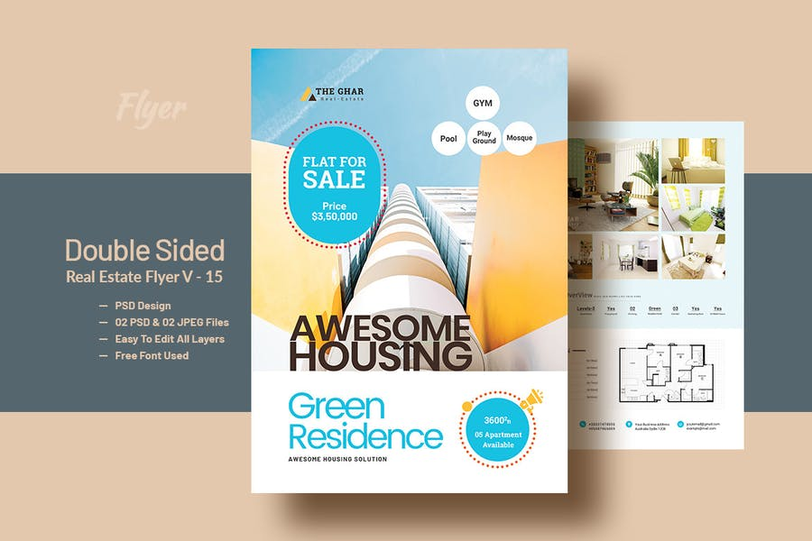 Double Side RealEstate(Apartment Sales) Flyer V-12