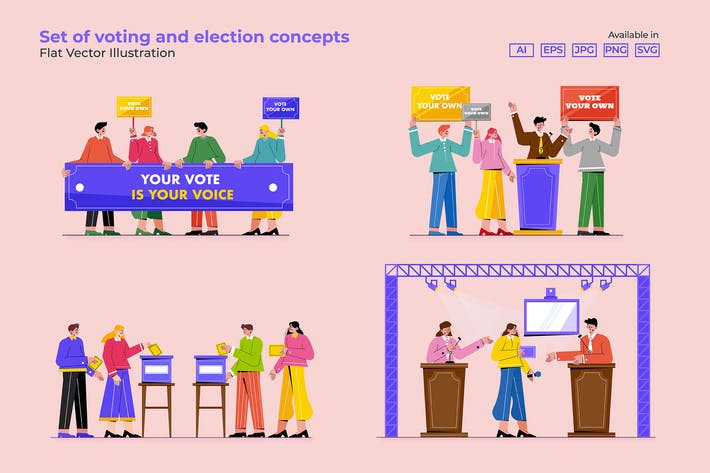 Thumbnail for Set of voting and election concepts