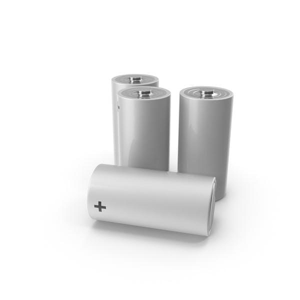 Thumbnail for Weiß Alkaline D Batterieset