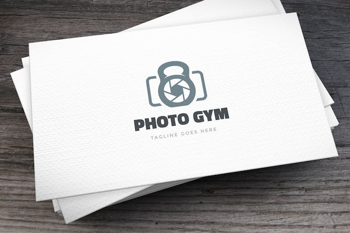 Cover Image For Photo Gym Logo Template