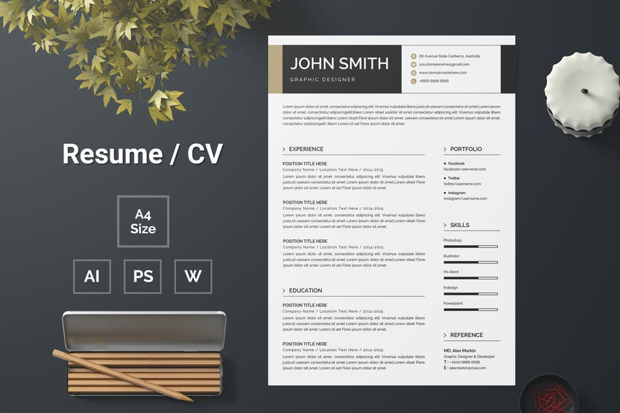 Resume Template 139