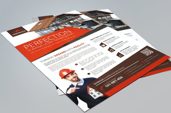 Cover Image For Construction Flyer #3