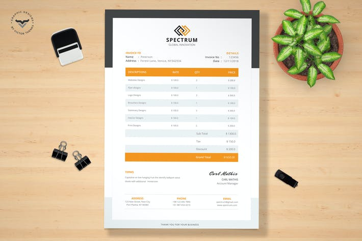 Thumbnail for Professional Invoice Template