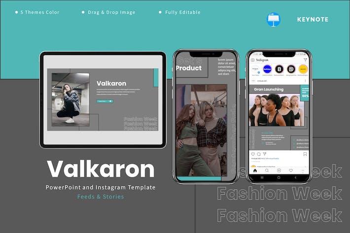 Valkaron - Шаблон Keynote и Instagram