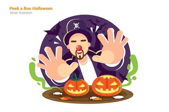 Boo Halloween - Vector Illustration