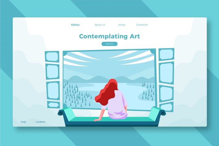 Thumbnail for Contemplating Art - Banner & Landing Page