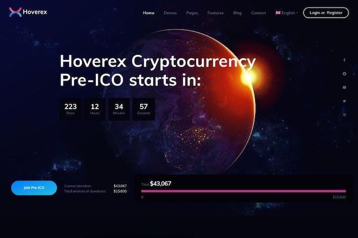 Thumbnail for Hoverex | Cryptocurrency & ICO WordPress Theme