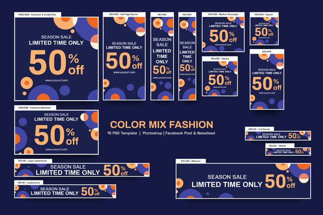 Color Mix Fashion Banners Ad