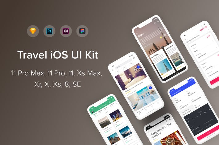 Thumbnail for Travel iOS UI Kit