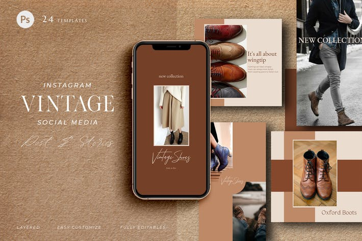 Thumbnail for Vintage Leather - social media pack