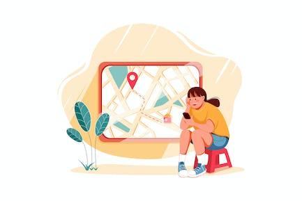 Order Monitoring - E-commerce Illustration concept
