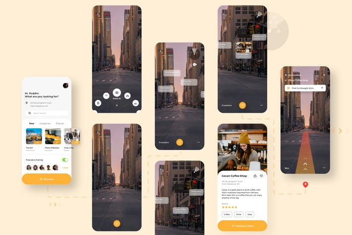 Thumbnail for Naties - Navigation Mobile UI - N