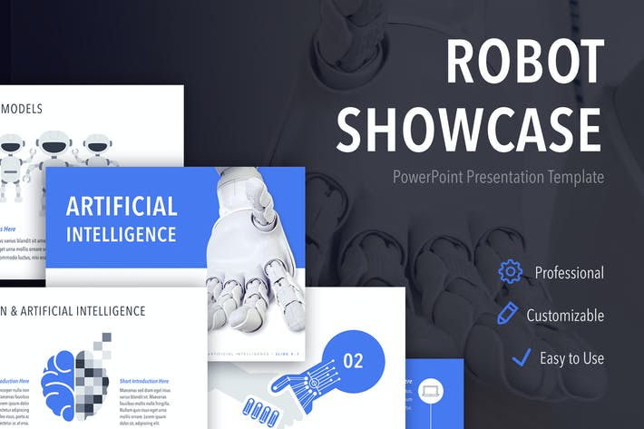 Thumbnail for Robot Showcase PowerPoint Template