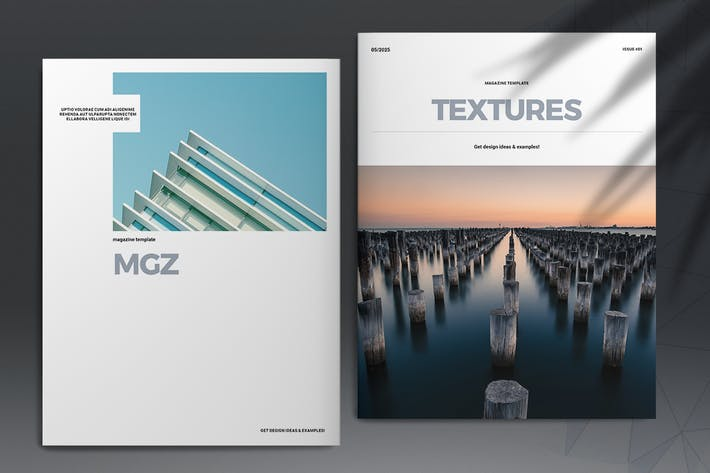 Thumbnail for Textures Magazine Template