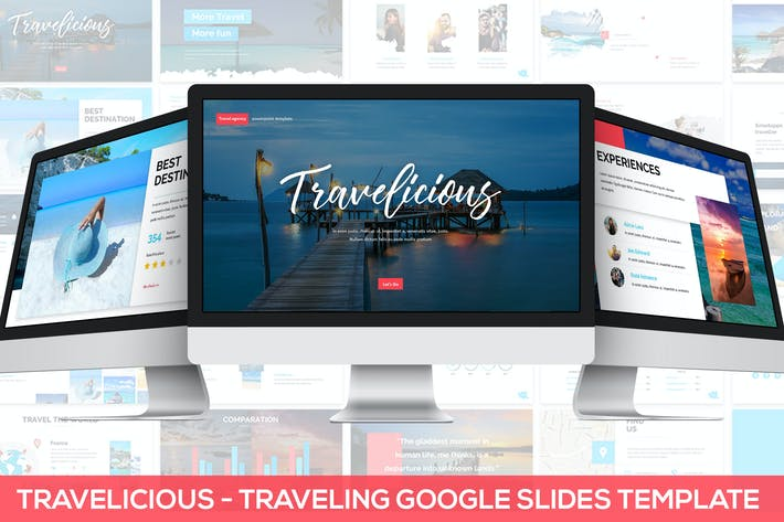 Thumbnail for Travelicious - Google Slides Template