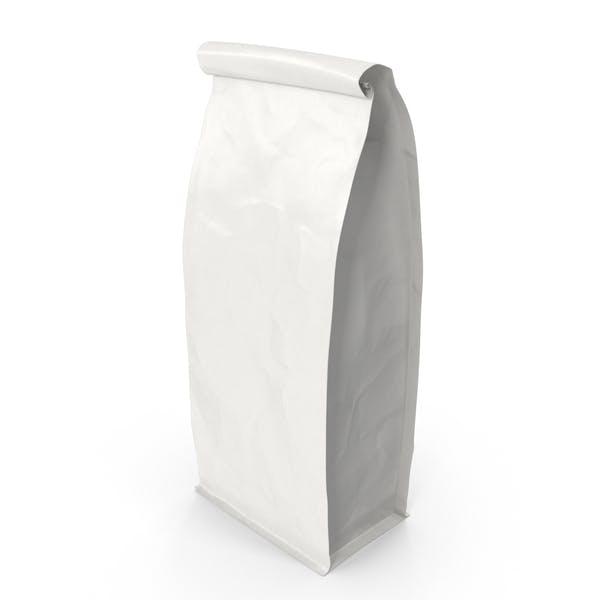 Thumbnail for Flat Bottom Pouche 1000g Closed White