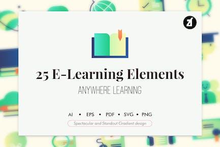 25 Elementos de aprendizaje electrónico