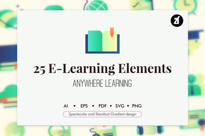 Thumbnail for 25 E-Learning elements