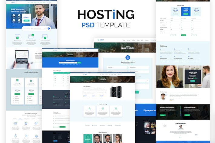 Thumbnail for Web Hosting Company Template