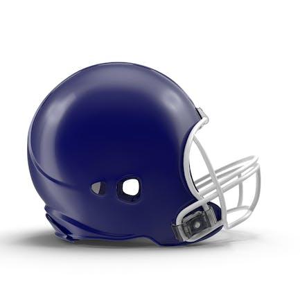 Blauer Fußballhelm