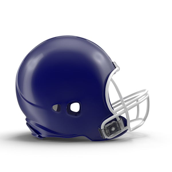Casco de fútbol azul